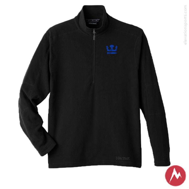 Custom Marmot Rocklin Fleece Half-Zip Pullover - Black