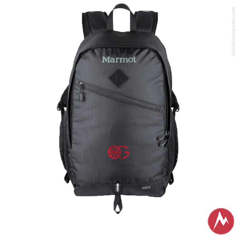 Custom Marmot Anza Backpacks - Black