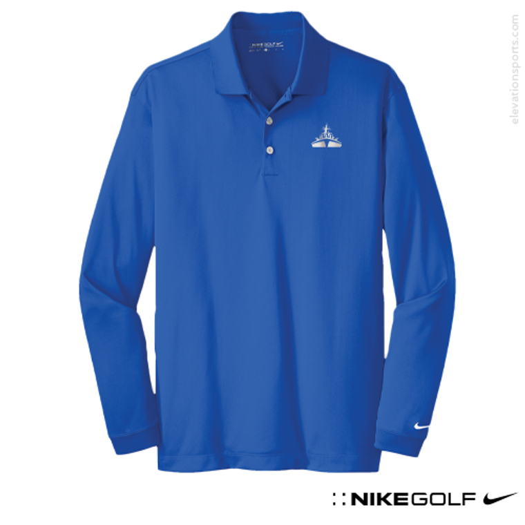 Custom Nike Golf Long Sleeve Dri-FIT Stretch Polo Shirt