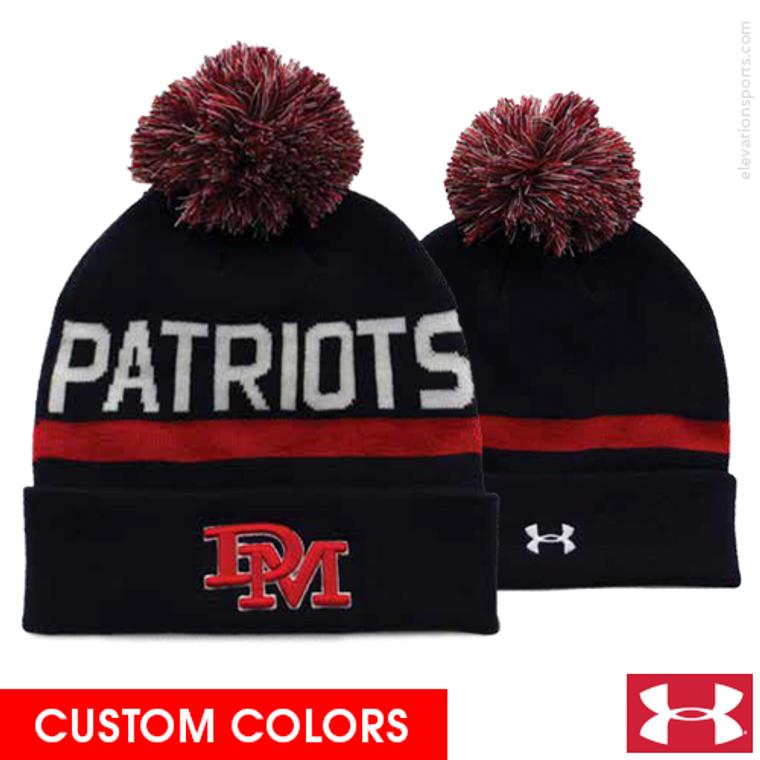 Custom Under Armour Roll Up Ski Hat with Pom