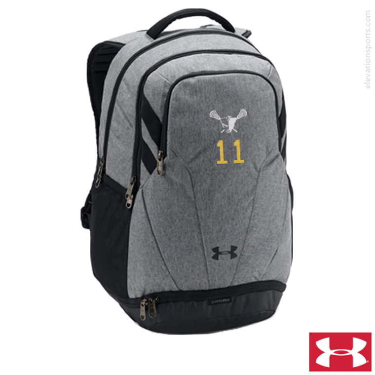 Custom Under Armour Hustle Backpacks - Grey