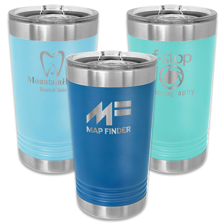 Custom 16 oz. Stainless Pint Glasses