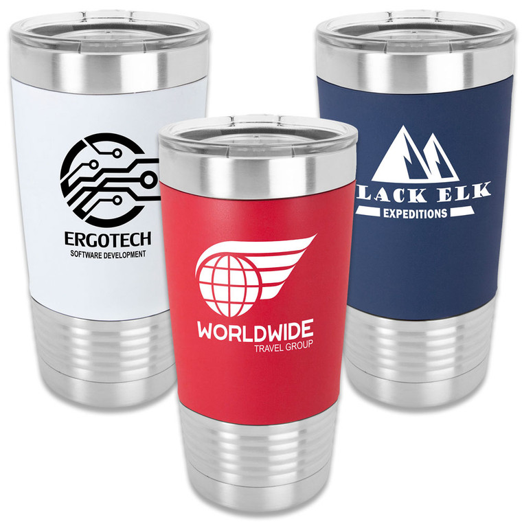 Custom Stainless Silicone Grip Tumblers