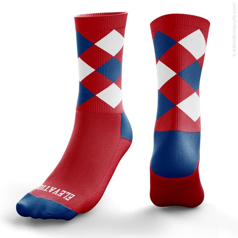 Elevation Custom Argyle Socks