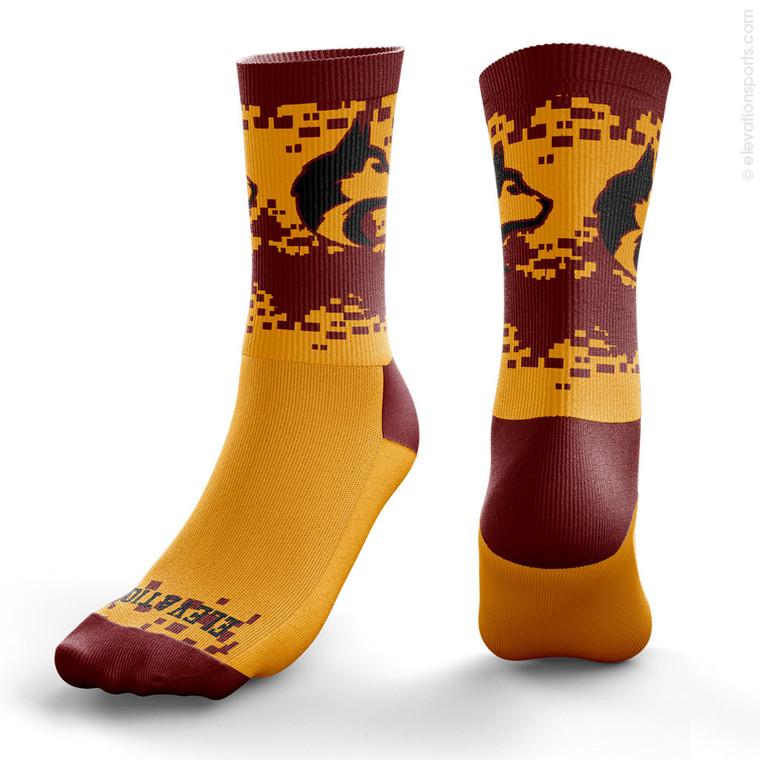 Elevation Custom Socks - Digi Storm