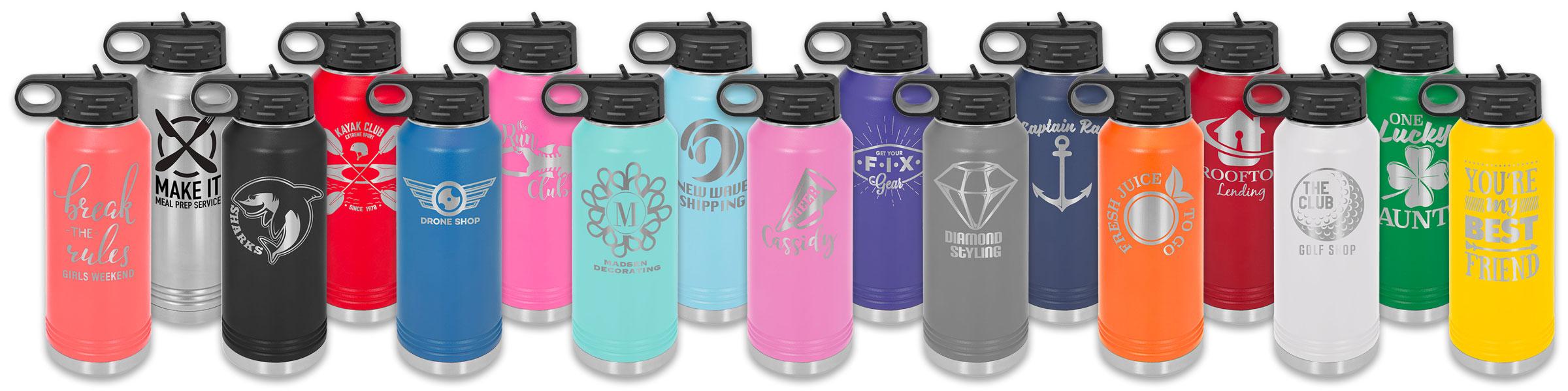 Custom 32 oz stainless water bottles from Polar Camel