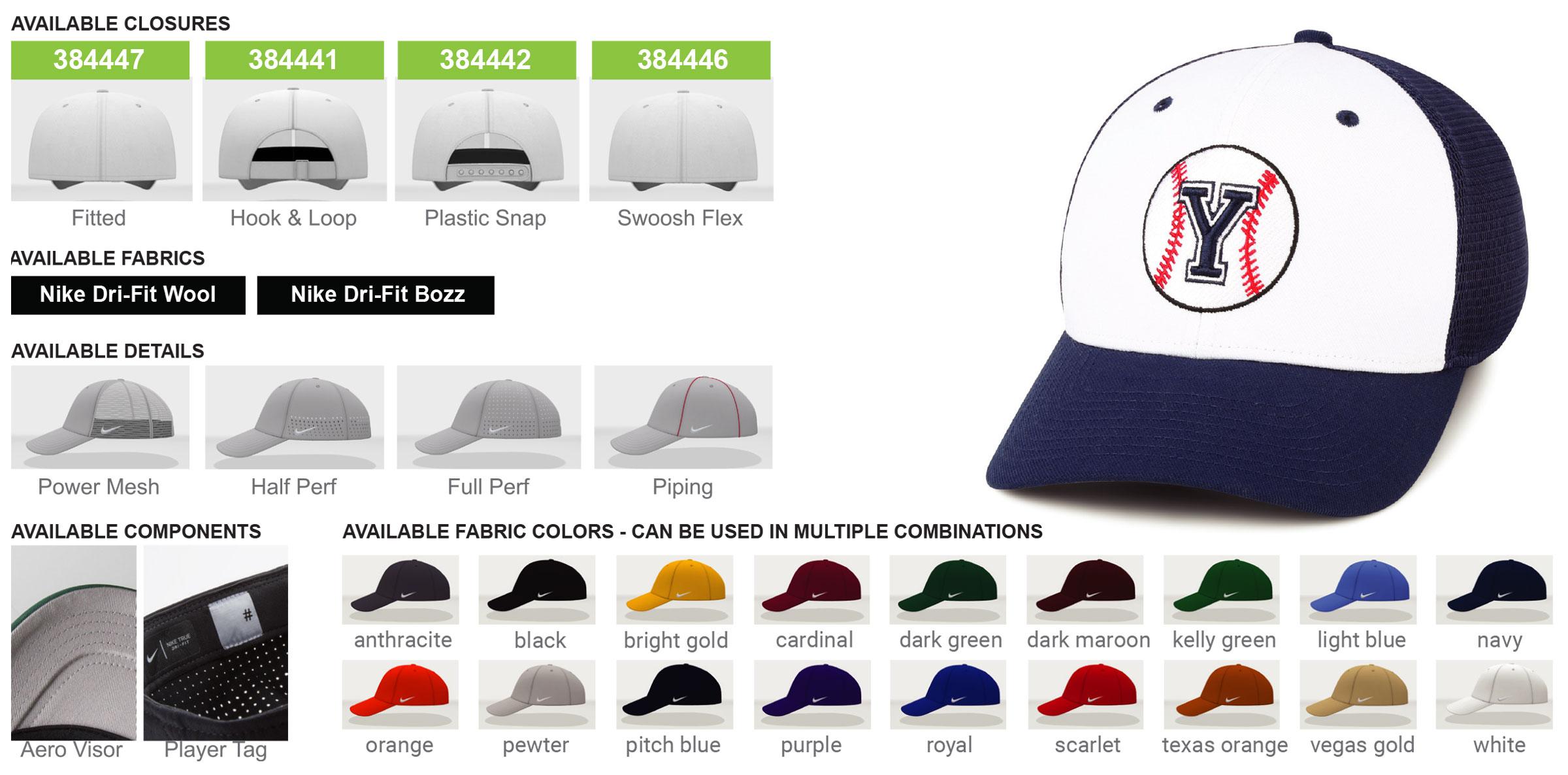Nike Custom Classic 99 Hat Options