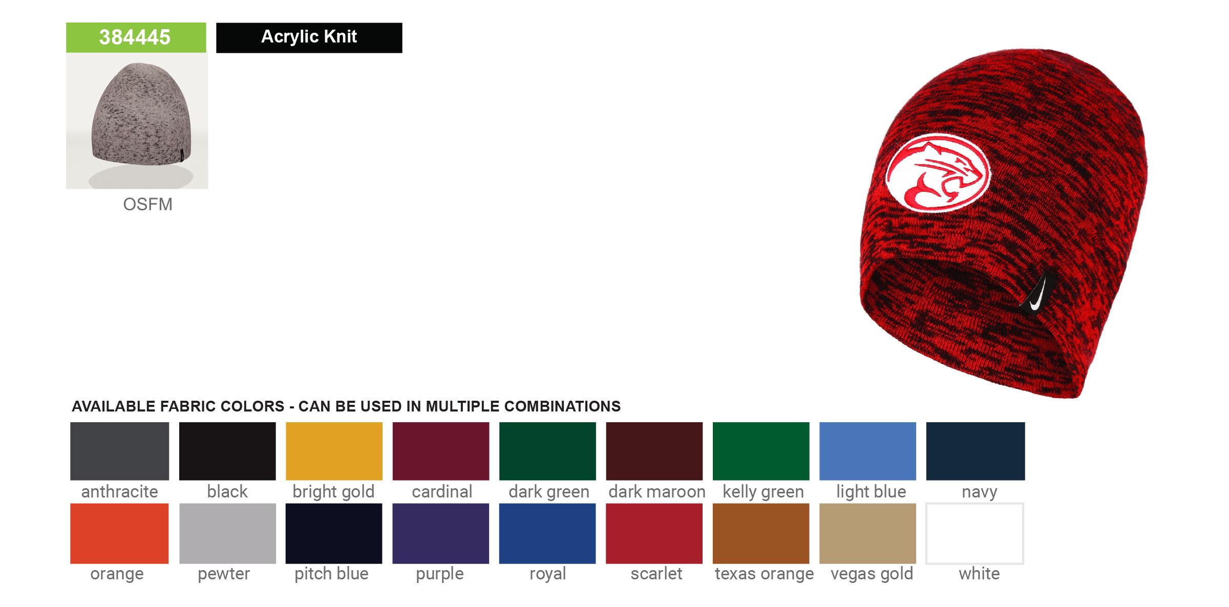 Custom Nike Heathered Winter Hats