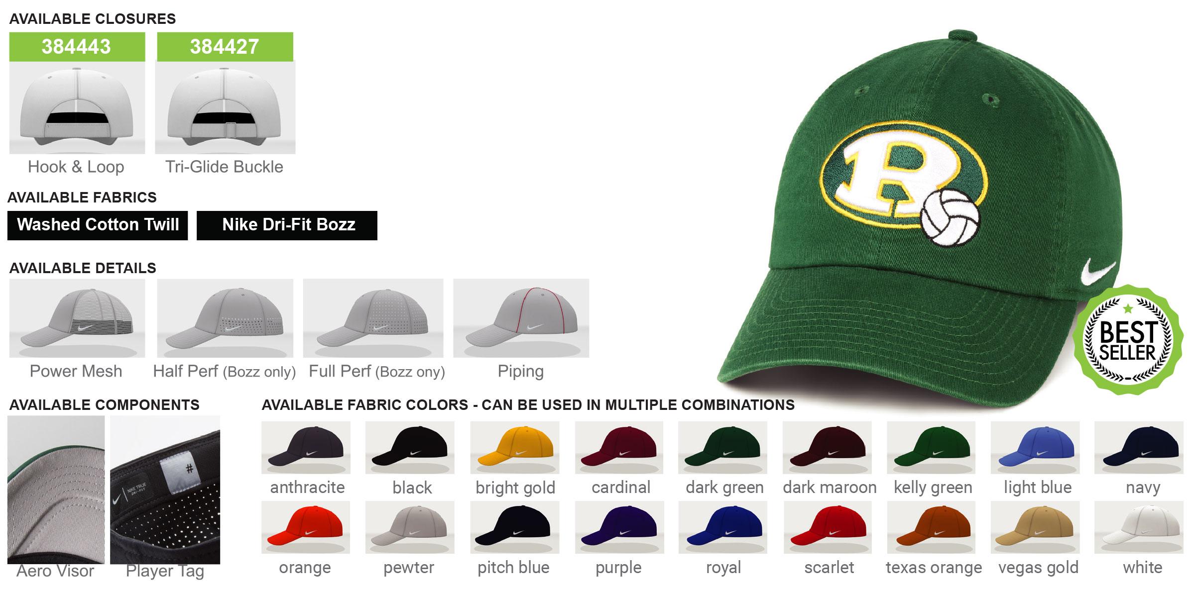 Custom Nike Heritage 86 Hats - Adjustable
