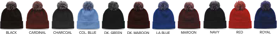 The Game - Custom Knit Winter Beanies - Color Charts