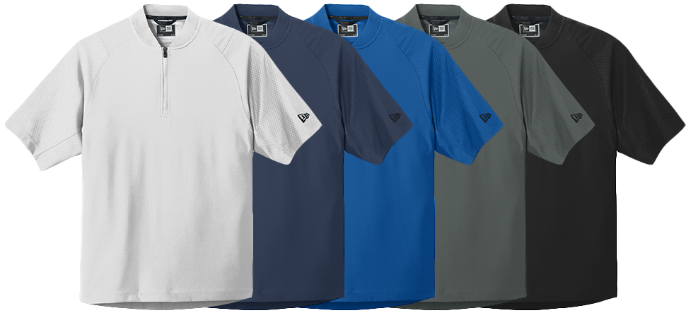Custom New Era Short Sleeve Cage Jackets