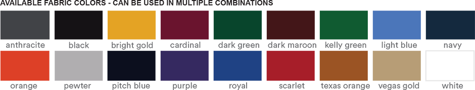 Custom Nike Winter Beanies - Color Chart