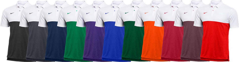 Custom Nike Colorblock Polo Shirts