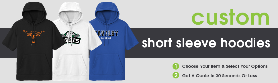 Custom Short Sleeve Hooded Sweatshirts