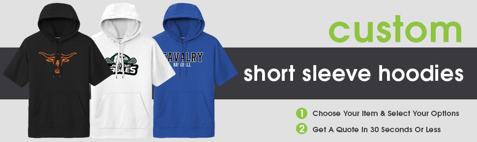 Custom Short Sleeve Hooded Sweatshirts