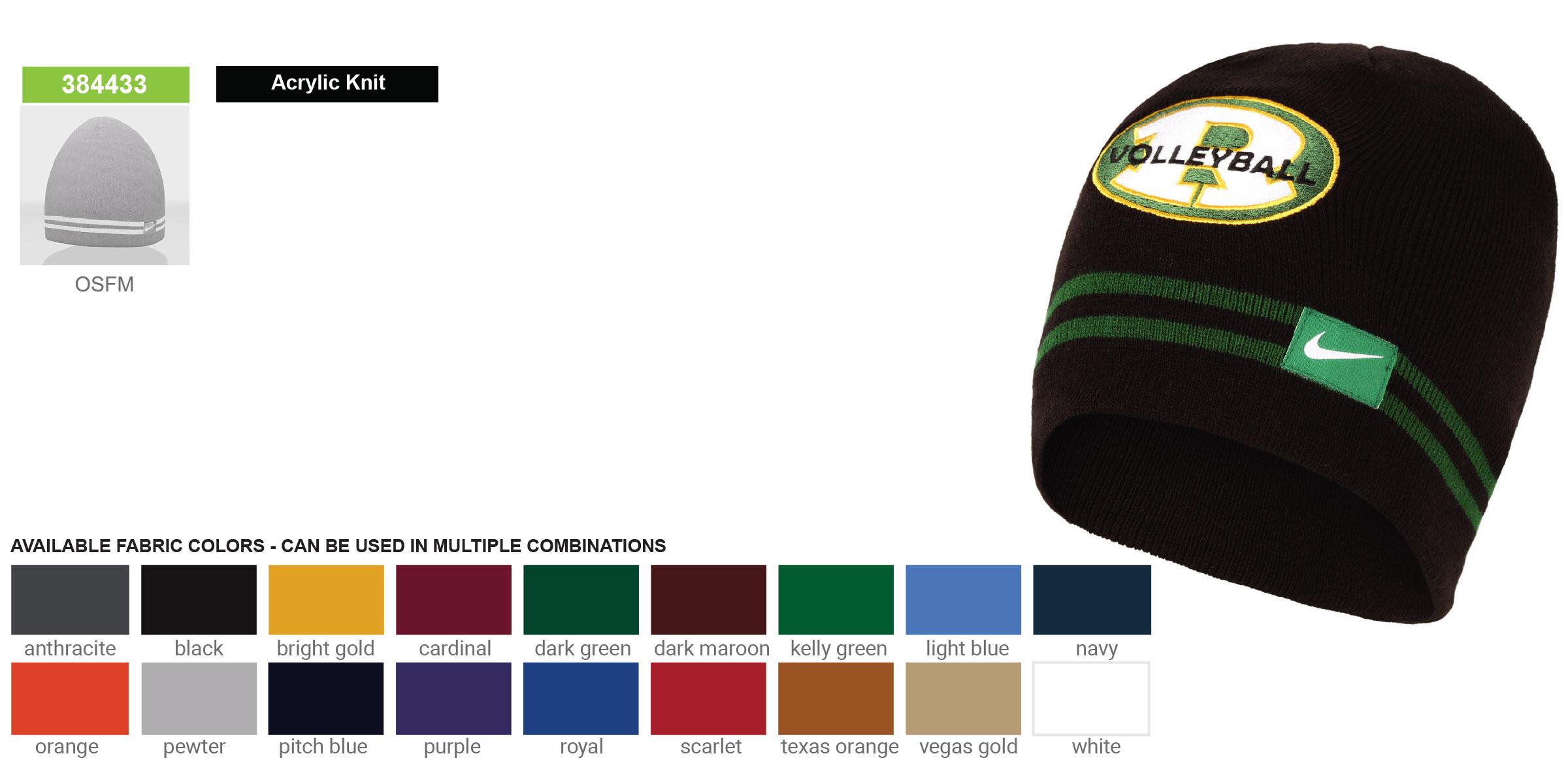 Custom Nike Striped Knit Beanie