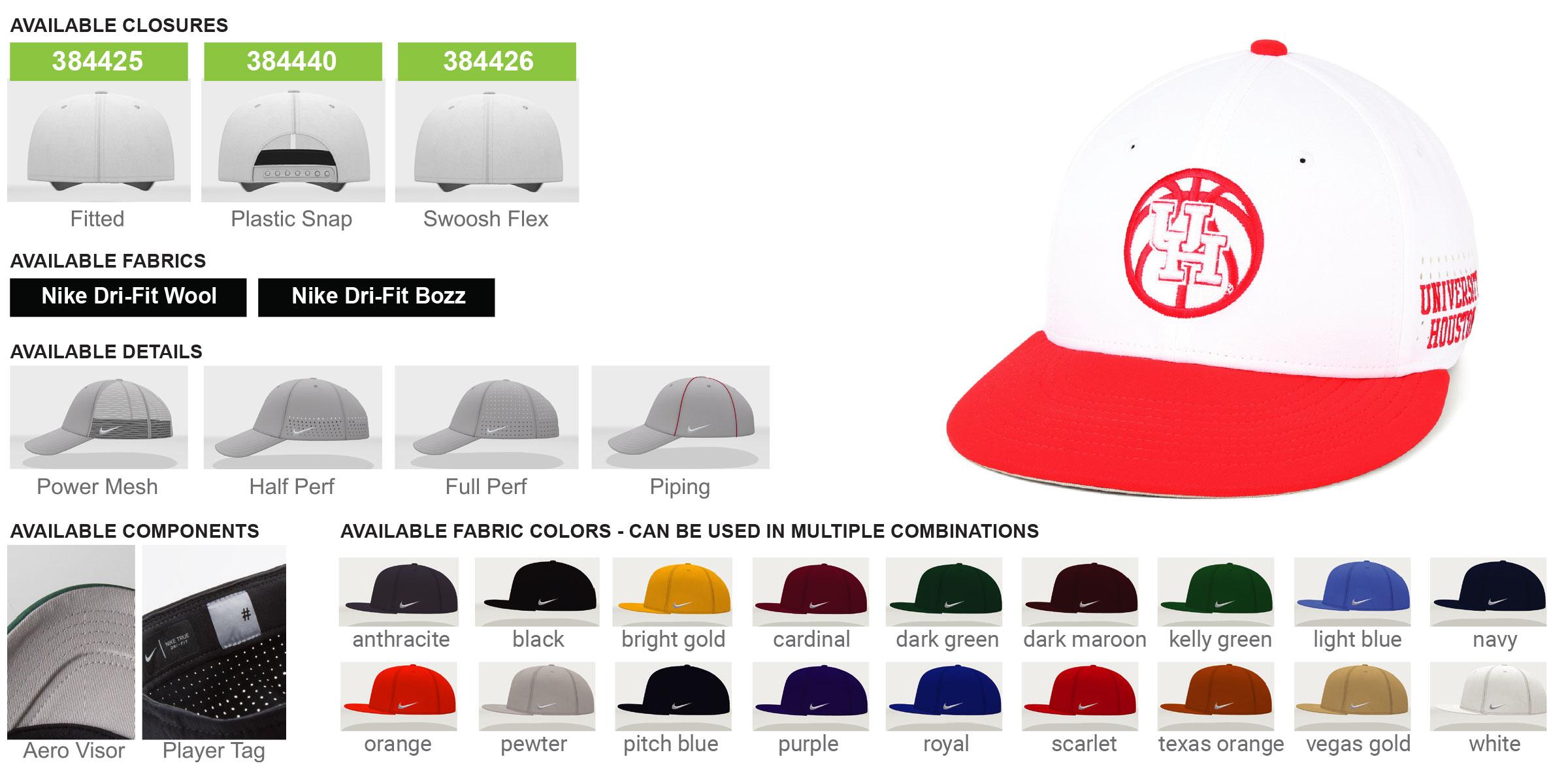 Custom Nike True Baseball Cap - Medium Crown
