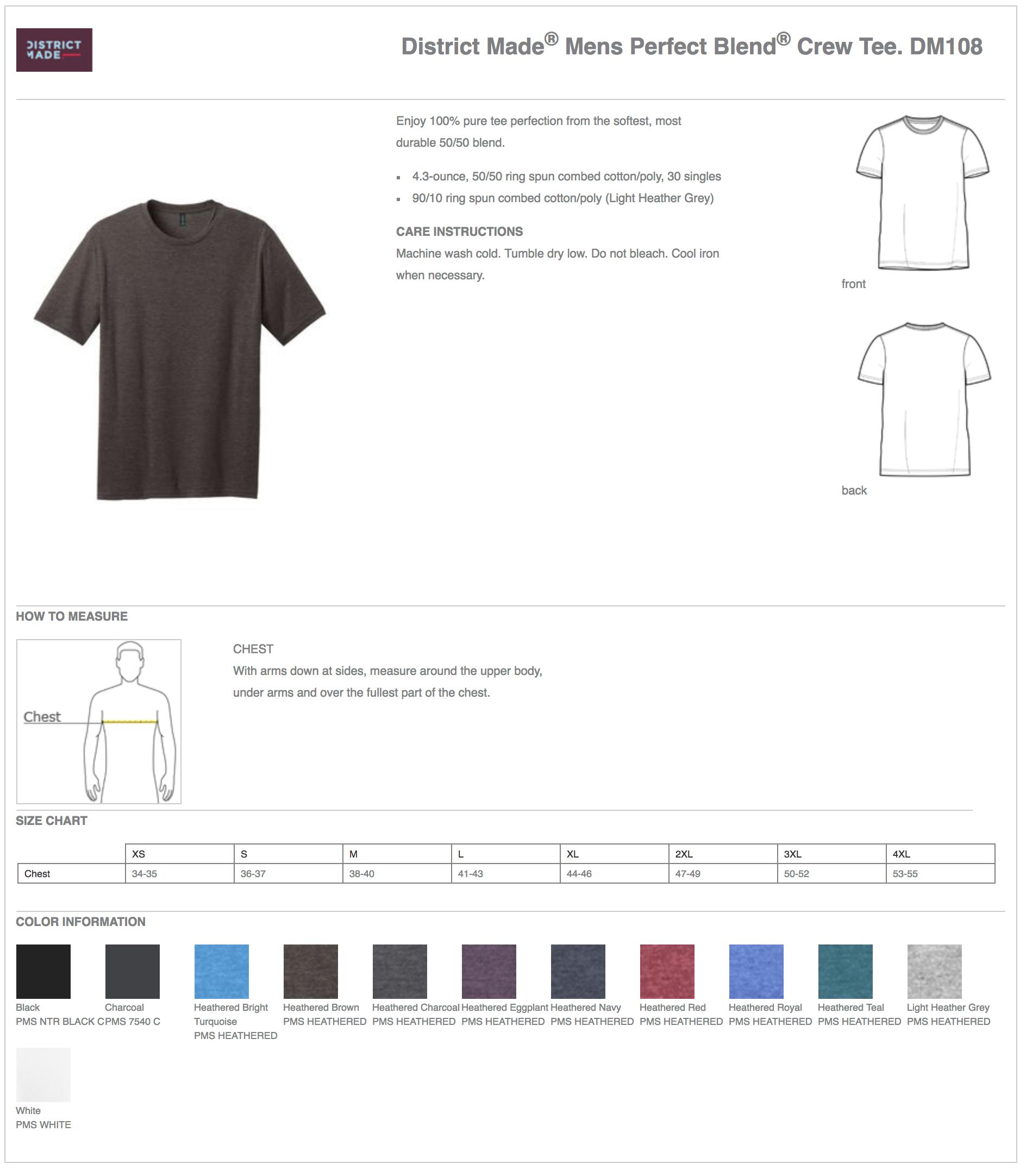 District Made DM108 Custom T-Shirts