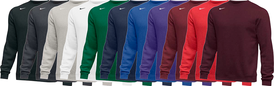 Nike Club Custom Crew Sweatshirts