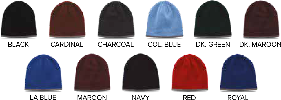 The Game Custom Beanies - Color Chart