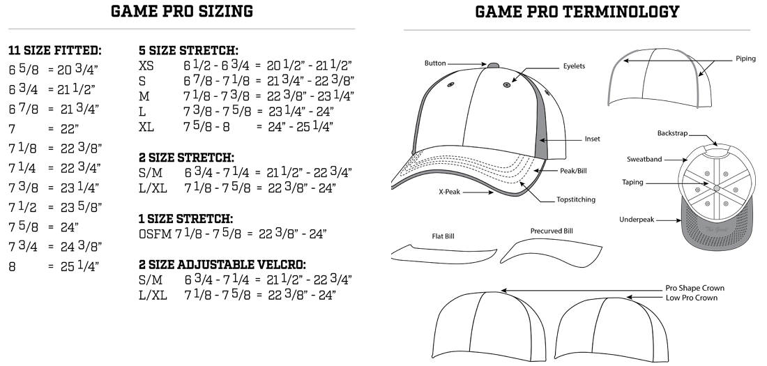 The Game Sizing Chart For Custom Hats