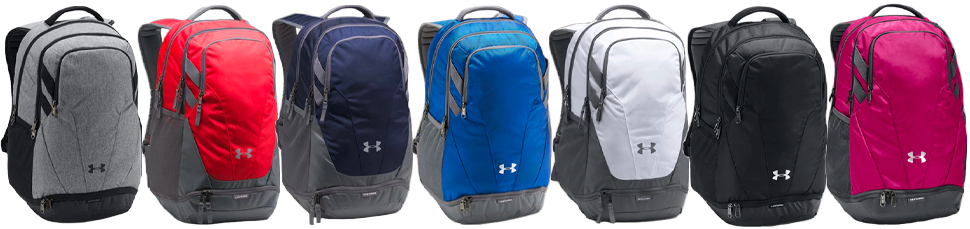 Custom Under Armour Hustle Backpacks