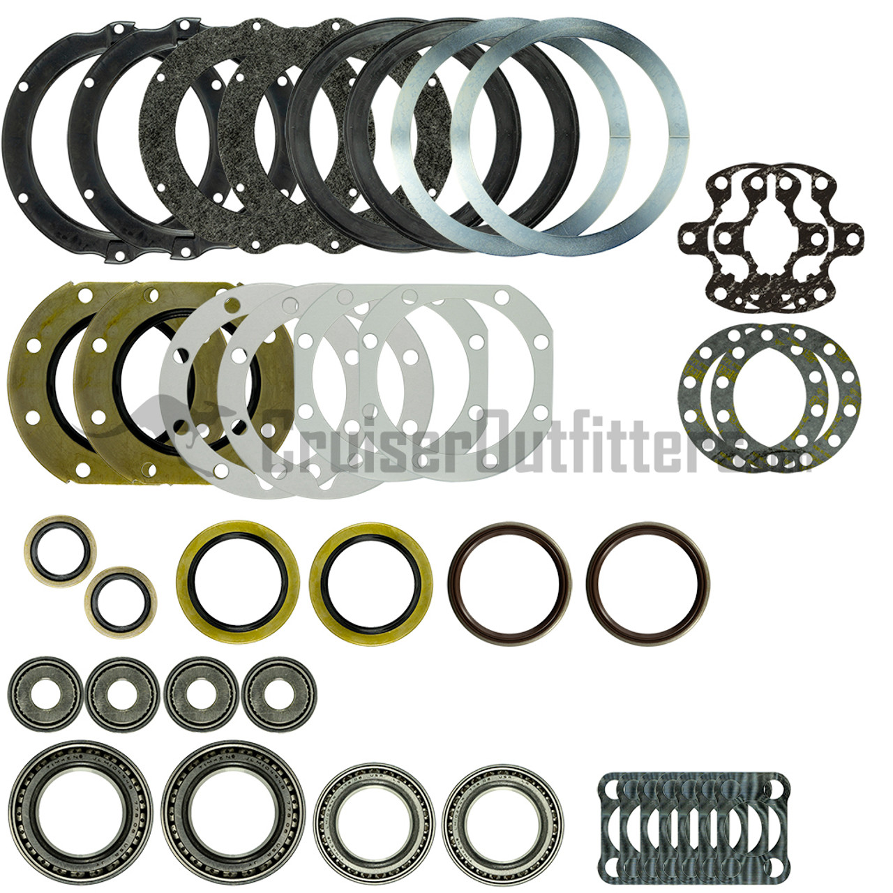 FA7X99ETWB - 1/1990-7/1999 Non-US 70 Series & Some Later Models w/6-Lug Axles w/ OE Electric Hubs Front Axle Rebuild Kit
