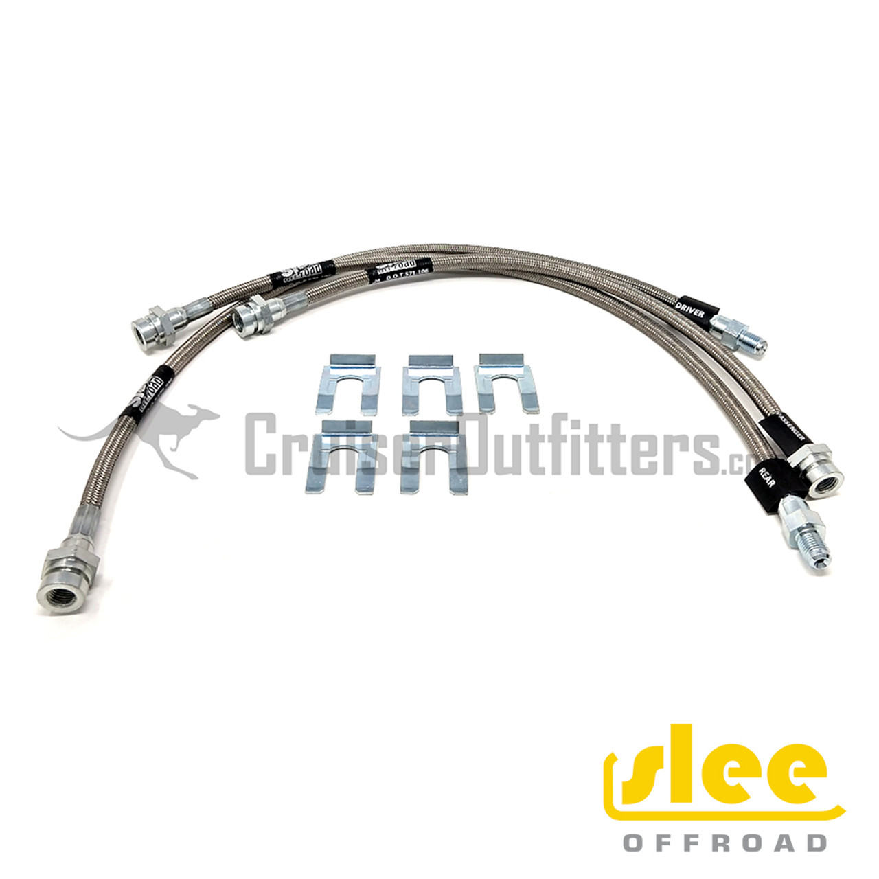 """Slee Stainless Steel Extended +4"""" Frame to Axle Kit - SLEESTF1008"""