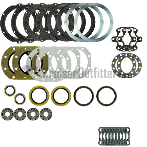 FA7X99E - 1/1990-7/1999 Non-US 70 Series & Some Later Models w/6-Lug Axles w/ OE Electric Hubs Front Axle Rebuild Kit