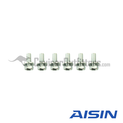 AISIN Hub Face Bolt w/ Washer (Pack of 6) - Fits (HUB80616KIT)