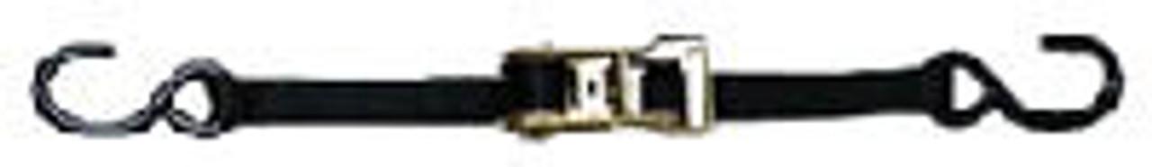 "1"" x 12' Ratchet Strap with Vinyl ""S"" Hooks (195600)"