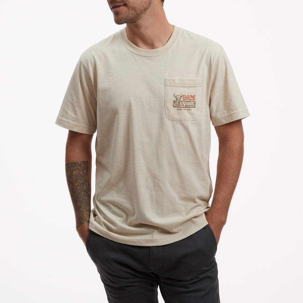 Howler Original Pocket T-Shirt - Sand