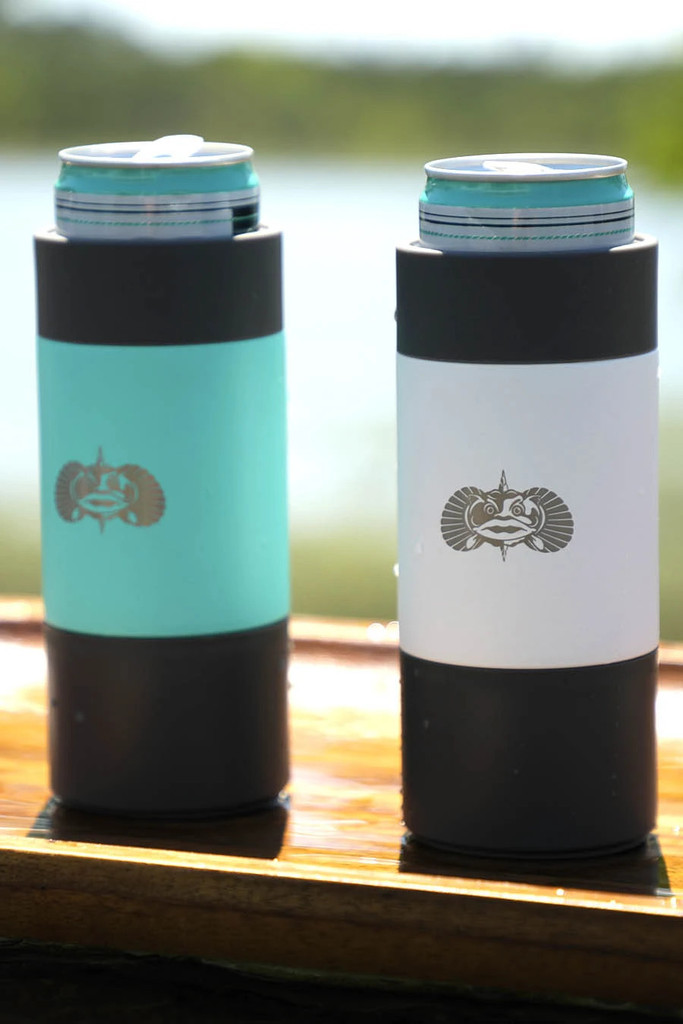 Non-Tipping Slim Can Cooler - White