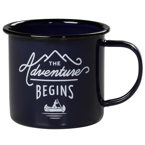 Adventure Begins Enamel Mug - Navy