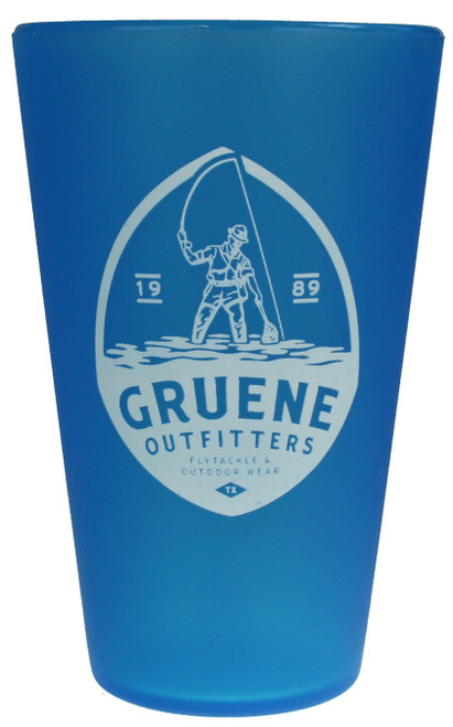 G.O. Logo Silipint 16oz Glass - Bend Blue