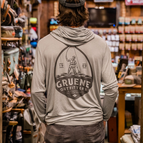 Men's Bamboo Lightweight Hoody with G.O. Logo - Aspen Grey