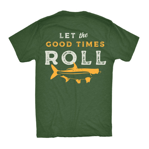 Let the Good Times Roll Tee - Dark Green