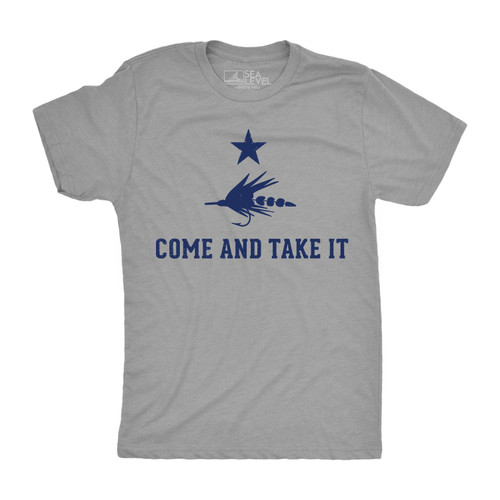 Come and Take It Fly Fishing Tee - Grey