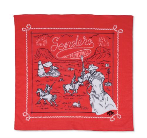 Skeleton Riders Bandana- Red