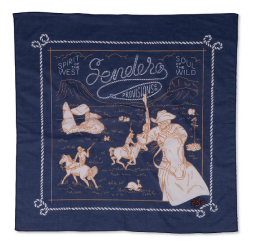 Skeleton Riders Bandana- Blue