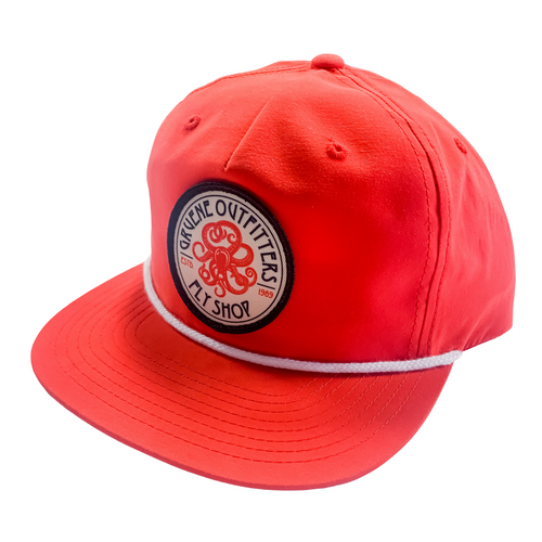 G.O. Fly Shop Kraken Logo Six Panel Trucker - Red