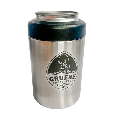 G.O. Logo Rambler 12 oz Colster Can Insulator - Stainless Steel