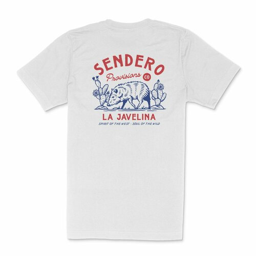 La Javelina Tee- Heather White