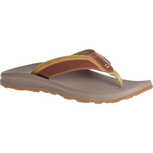Chaco Playa Pro Leather Flip Flop- Tan
