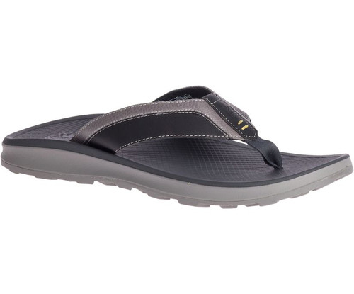 Playa Pro Leather Flip Flop- Grey