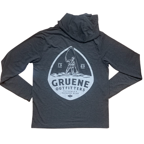Free Fly Bamboo Crossover Hoody with G.O. Logo - Heather Black