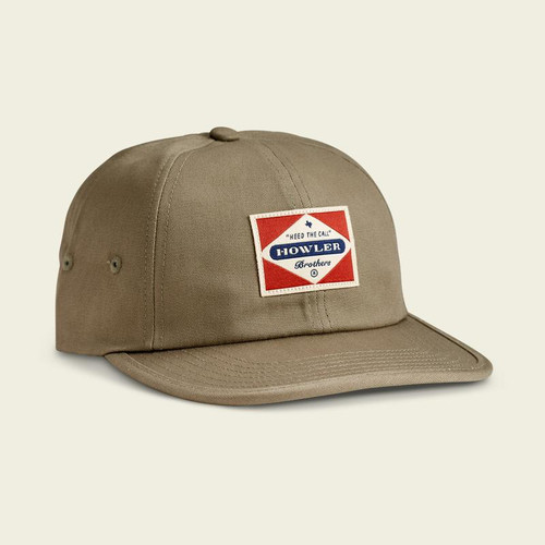 Howler Posse Badge Strapback Hat- Olive Green