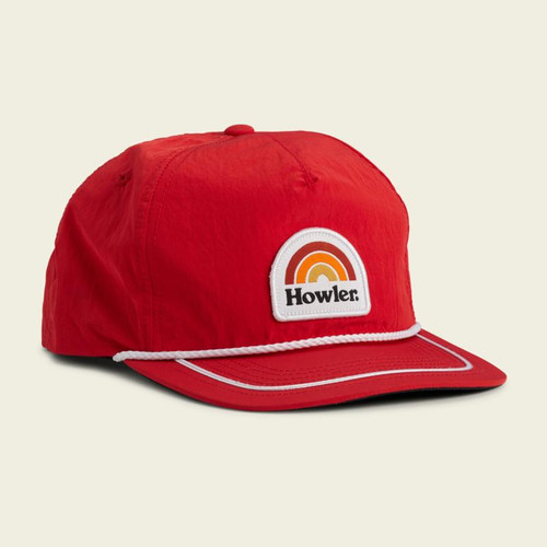 Howler Unstructured Rainbow Snapback- Scarlet