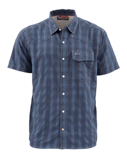 Simms Big Sky Short Sleeve Shirt - Admiral Blue