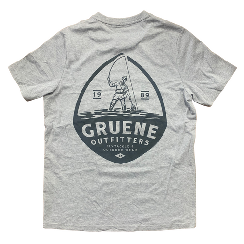 Bamboo Heritage Tee with G.O. Logo - Light Heather Grey